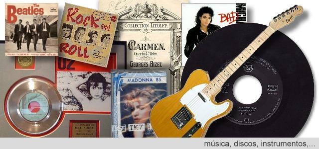 Música, discos, vinilos, instrumentos musicales,...